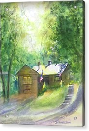 Cool Colorado Cabin Acrylic Print by Debbie Lewis