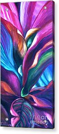 Cool Cordylines Acrylic Print by Therese Alcorn