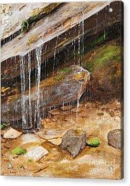 Cool Water Acrylic Print by Carla Dabney