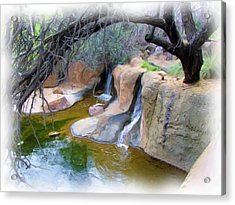 Cool Waters Acrylic Print by FeVa  Fotos
