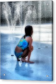 Cooling Off Acrylic Print by Jennifer Woodworth