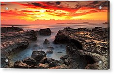 Coolongatta Gold Acrylic Print by Mark Lucey