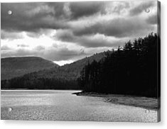 Acrylic Print featuring the photograph Cooper Lake Monochrome by Nancy De Flon