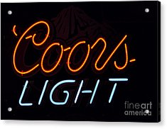 Coors Light Acrylic Print by Juls Adams