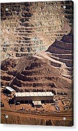 Copper Mine Buildings, Arizona, Usa Acrylic Print by Arno Massee