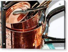Copper Pots Acrylic Print