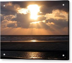 Copper Sunset Stroll Acrylic Print by Will Borden