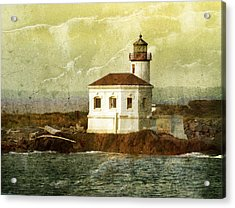 Coquille River Lighthouse Acrylic Print by Jill Battaglia