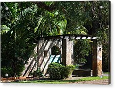 Acrylic Print featuring the photograph Coral Gables Gate by Ed Gleichman