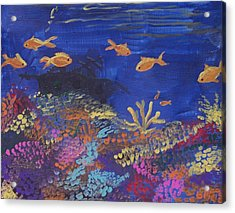 Coral Reef Garden Acrylic Print by Renate Pampel