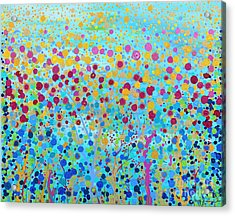 Acrylic Print featuring the painting Coral Symphony by Stacey Zimmerman