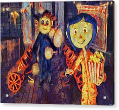 Acrylic Print featuring the painting Coraline Circus by Joe Misrasi