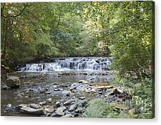 Acrylic Print featuring the photograph Corbetts Glen Waterfall by William Norton