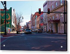 Corcoran And Main  Acrylic Print by Bob Whitt