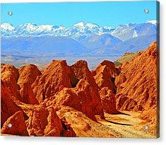 Cordillera De Los Dinosaurios Acrylic Print by Sandra Lira