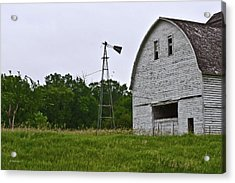 Acrylic Print featuring the photograph Corn Crib by Edward Peterson