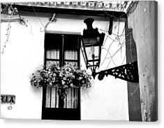 Acrylic Print featuring the photograph Corner Light Black And White by Rick Bragan