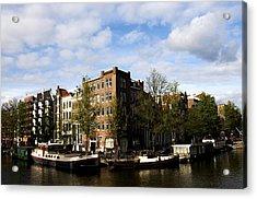 Corner Of Prinsengracht And Brouwersgracht Acrylic Print by Fabrizio Troiani