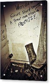 Corner Of Threat  Acrylic Print by Jerry Cordeiro