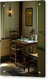 Corner Table Acrylic Print by Lee Fortier