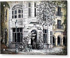 Corner Tea Acrylic Print by Danuta Bennett