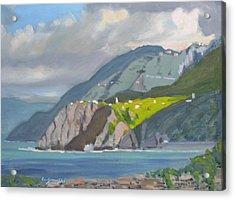 Corniglia Cinque Terra Italy Acrylic Print by Len Stomski
