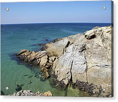 Cornish Coastline Acrylic Print by Allan Baxter