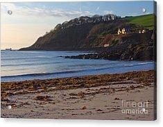 Cornish Seascape Meanporth Acrylic Print