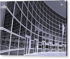 Corporate Building Acrylic Print by Yali Shi