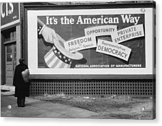 Corporate Resistance To Fdrs New Deal Acrylic Print by Everett