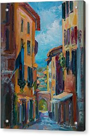 Cortona - Early Morning Acrylic Print by Jane Woodward