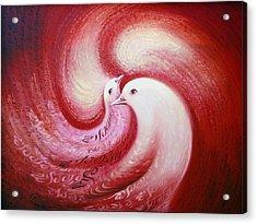 Cosmic Birds Of Swastika Acrylic Print by S Jaswant