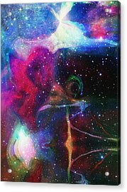 Cosmic Connection Acrylic Print by Linda Sannuti