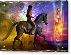 Acrylic Print featuring the digital art Cosmic Horizon by Shadowlea Is