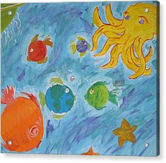 Cosmic Ocean Acrylic Print by Yshua The Painter