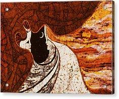 Cosmic Women Acrylic Print by Alexandra  Sanders