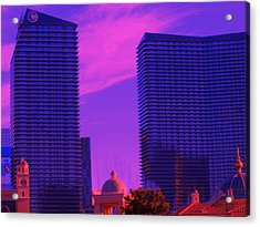 Cosmopolitan Sunset Acrylic Print by Linda Edgecomb
