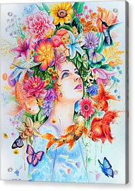 Cosmos Acrylic Print by Callie Fink