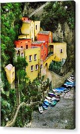 Costeria Amalfitano Acrylic Print by John Galbo