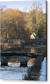 Cotswold River Scene Acrylic Print by Andrew  Michael