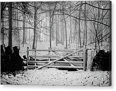 Cotswolds Winter Acrylic Print by Andrew Lockie