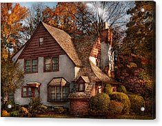 Cottage - Westfield Nj - Family Cottage Acrylic Print by Mike Savad