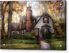 Cottage - Westfield Nj - Grandma Ridinghoods House Acrylic Print by Mike Savad
