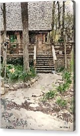 Cottage Acrylic Print by Anne Kitzman