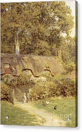 Cottage At Farringford Isle Of Wight Acrylic Print by Helen Allingham