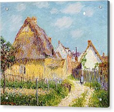 Cottage At Le Vaudreuil Acrylic Print by Gustave Loiseau
