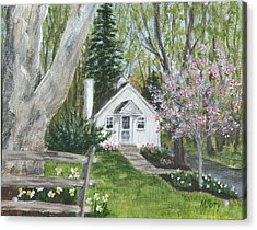 Cottage In Spring Acrylic Print