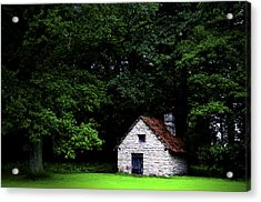 Cottage In The Woods Acrylic Print by Fabrizio Troiani
