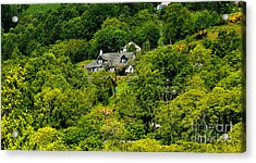 Cottage In The Woods Acrylic Print by Pravine Chester