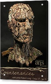 Countenances Exhibition Poster By Adam Long Acrylic Print by Adam Long